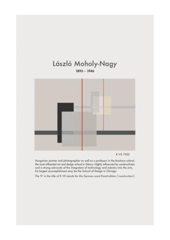 Poster Laszlo Moholy Nagy KVII Plakat Poster 1