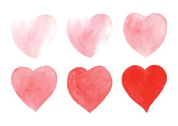 Poster Sechs Herzen Poster 1