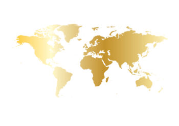 Poster Weltkarte gold Poster 1