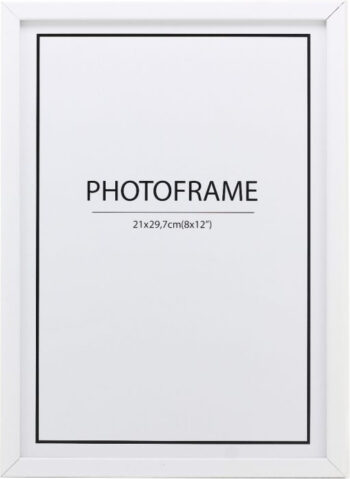Weißer Rahmen 12mm lackierte Kiefer 1