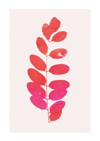 - Kubistika PosterLeaf print pink - Kubistika Poster 1