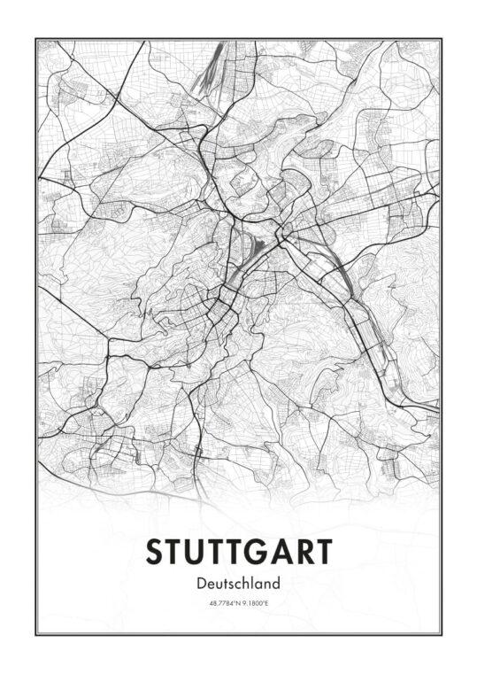 Poster Stuttgart Karte Poster 1