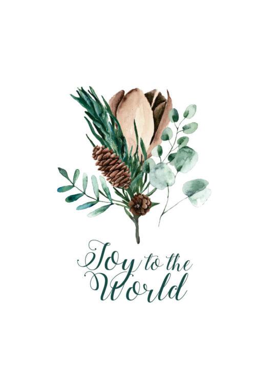 Poster Weihnachten: Joy to the world Poster 1